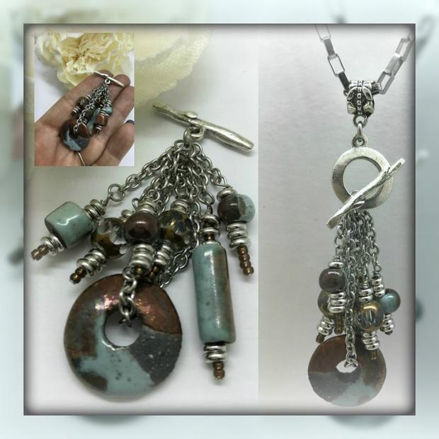 Greek ceramic glass interchangeable beaded pendant necklace 1485d greek ceramic glass interchangeable beaded pendant necklace 1485d aloadofball Choice Image