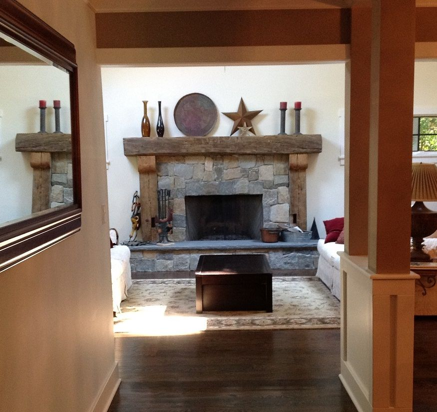 Custom Fabricated Reclaimed Barn Beam Mantle Surrounds