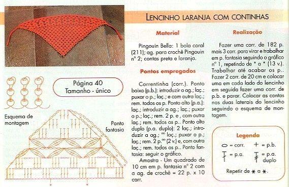 5 Pañuelos de Cabeza de Pico Crochet - Patrones Crochet | Tejido ...
