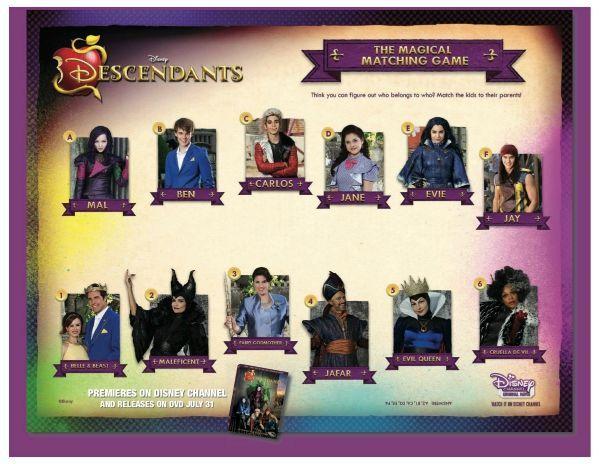 Descendants Disney Coloring Pages