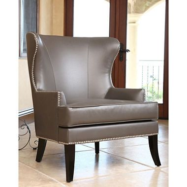 Amazing Tobi Leather Wingback Chair
