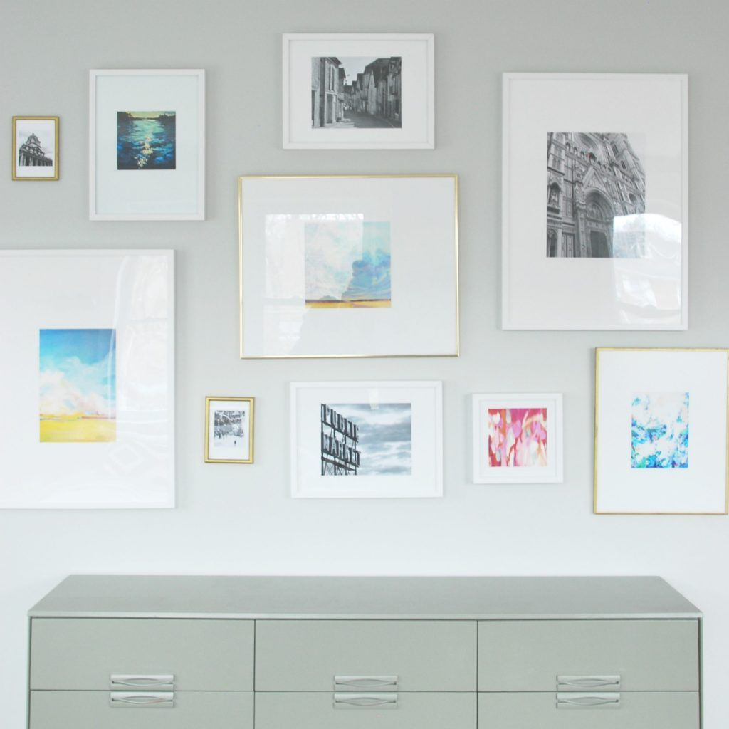 How To Make DIY Photo Mats (for less than $1 | Gallery wall ...