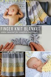 Loop Yarn Finger Knitting Blanket Pattern  Tutorial for Beginners   Free Loop Yarn Finger Knitting Blanket Pattern  Tutorial for Beginners  Free Loop Yarn Finger Knitting...