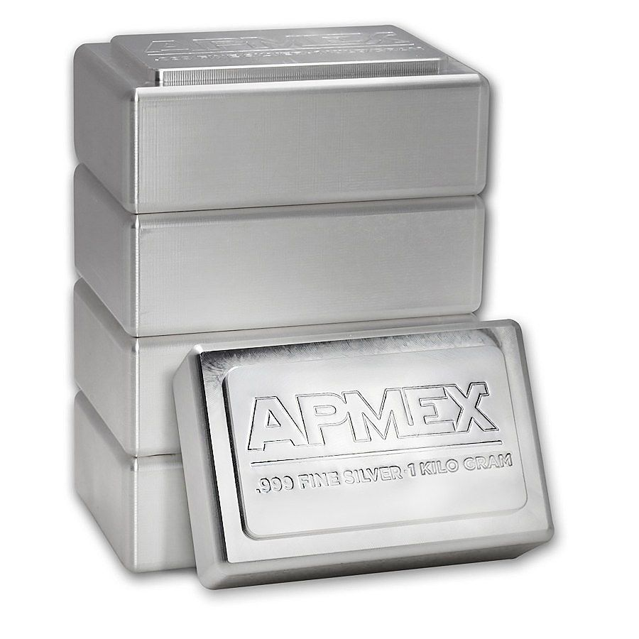 1 Kilo Silver Bar Apmex Stackable Ira Roved