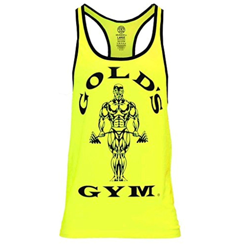c7e7ba4bbd0c8 2016 Gold s Gym Muscle Joe Contrast Stringer Fitness Sports Vest Mens  Training Tank Top  Clothing