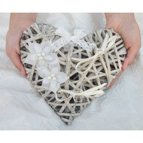 Porte alliance coeur rotin id e d co nature e pinterest photos - Porte alliances mariage ...