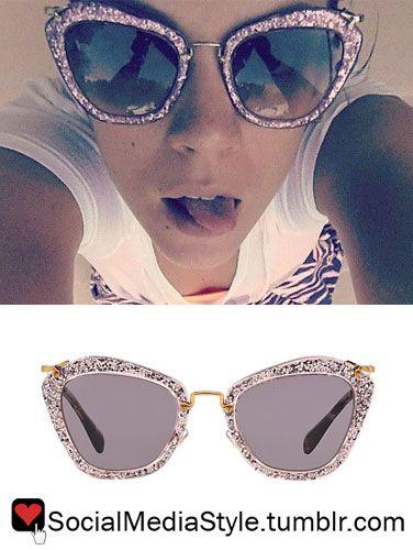 40635c1d0ff Buy Lily Allen s Miu Miu Glitter Sunglasses