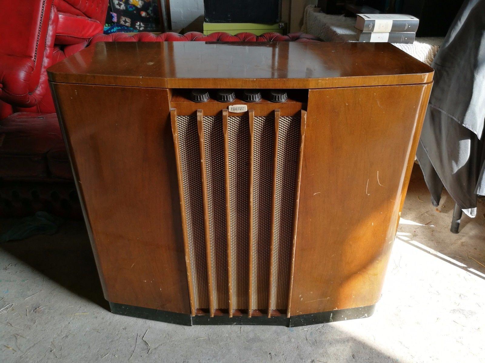 #Vintage 50S #Ferguson 401 Radiogram #Gramophone Record Player, View More