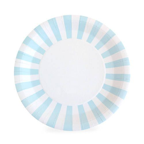 Plates | 9  Powder Blue Striped Paper Plates | Blue and White Striped Plates | Premium Quality Plates | Party Supplies | The Party Darling by ...  sc 1 st  Pinterest & Plates | 9