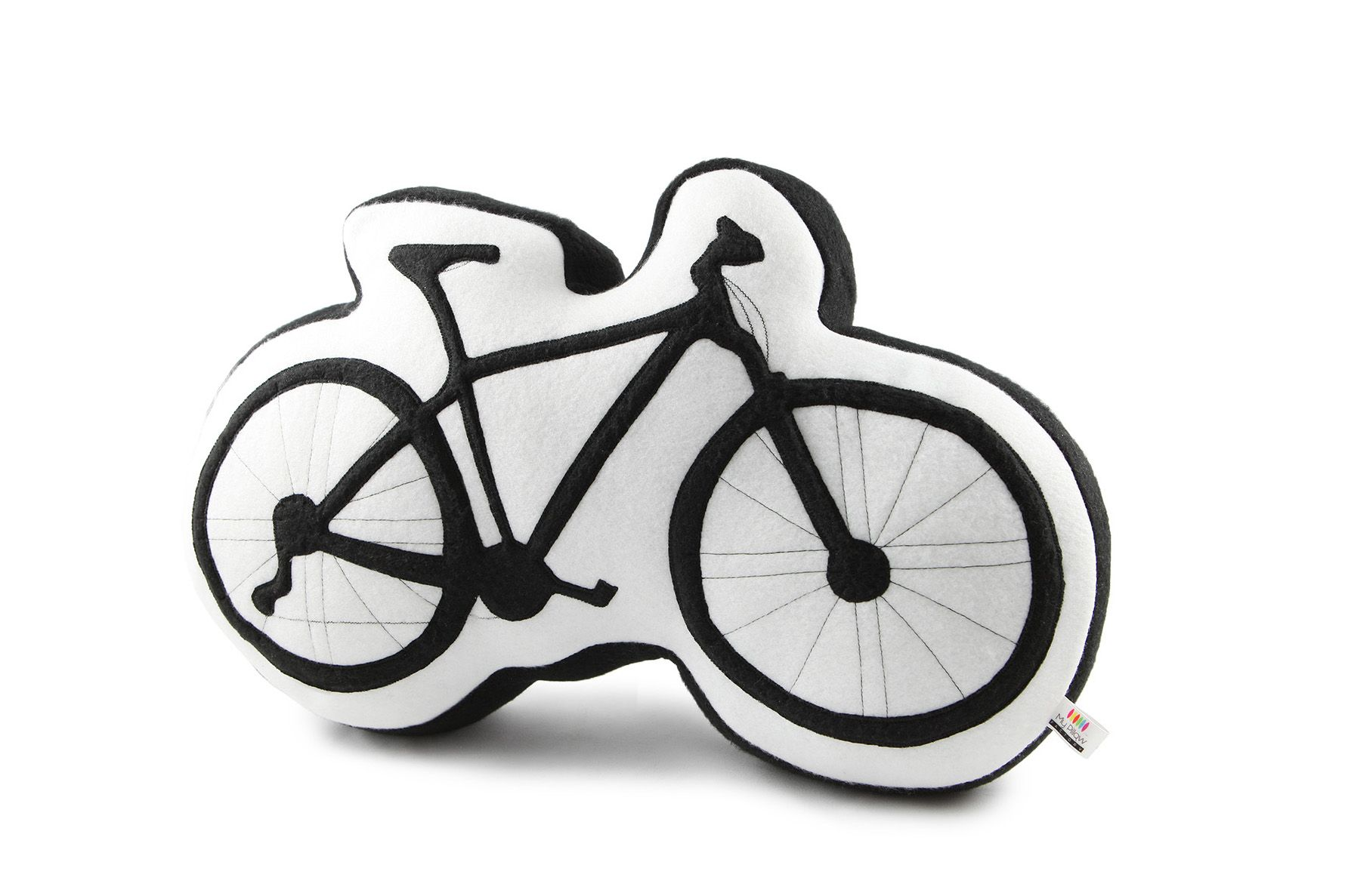 This pillow is dedicated to all bike lovers! Remember amazing cyclings and enjoy being home. (www.my-pillow-factory.de)
