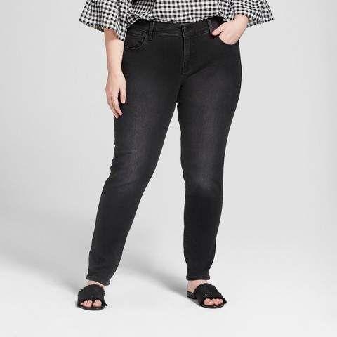 b8ba35748a1 Universal Thread Women's Plus Size Skinny Jeans - Universal Thread Black