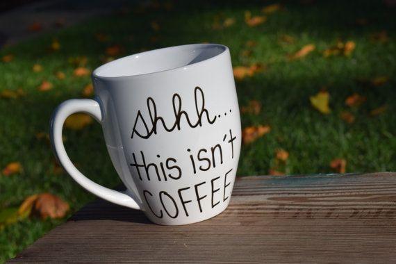 Luv This Mug This Listing Is For One Handwritten Coffee Mug Capacity 16oz Mugs Are Hand Drawn And Made To Ord Funny Coffee Mugs Mugs Coffee Mugs