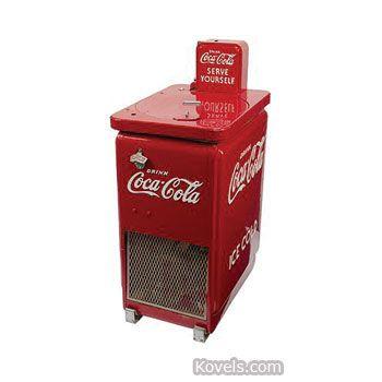 coca cola collectibles | coca cola cooler drink coca cola serve yourself vendo junior coin ...