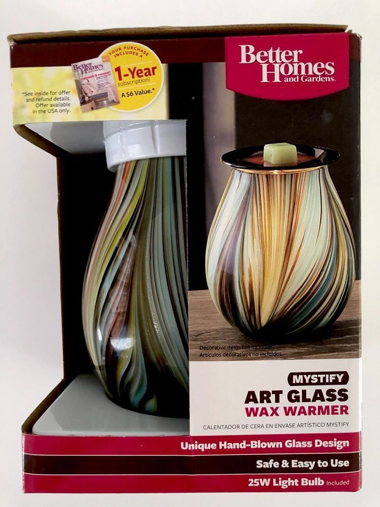Better Homes And Gardens Mystify Art Glass Wax Warmers