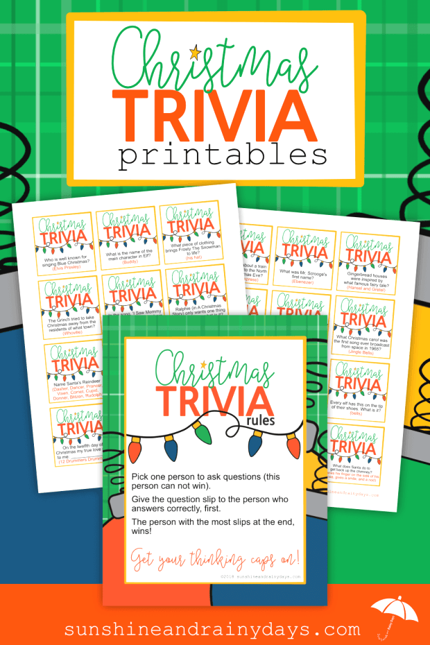Christmas Trivia Game Printables : Are you hosting ...