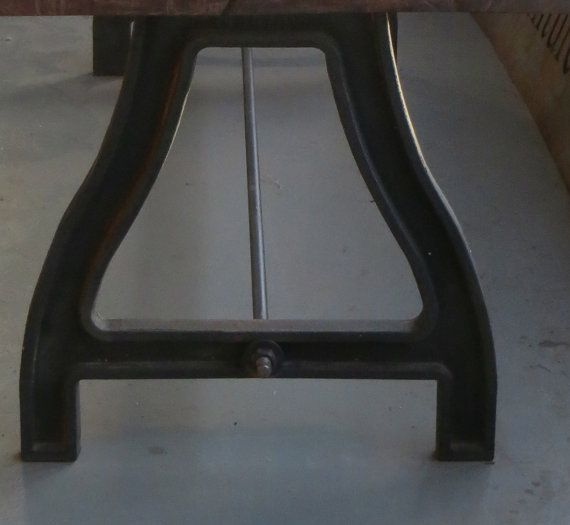 Cast Iron Base For Table: 2 Supports Plus Connecting Rod
