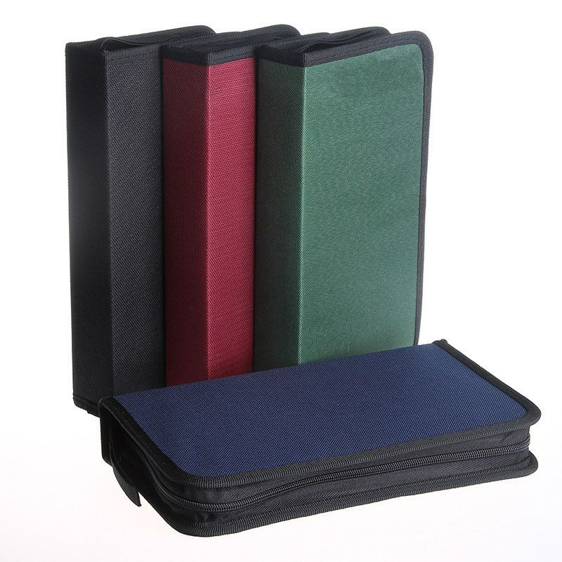 1PCS 80 Disc CD DVD Case Storage Holder Carry Case Organizer Sleeve Wallet Cover Bag Box  sc 1 st  Pinterest & 1PCS 80 Disc CD DVD Case Storage Holder Carry Case Organizer Sleeve ...