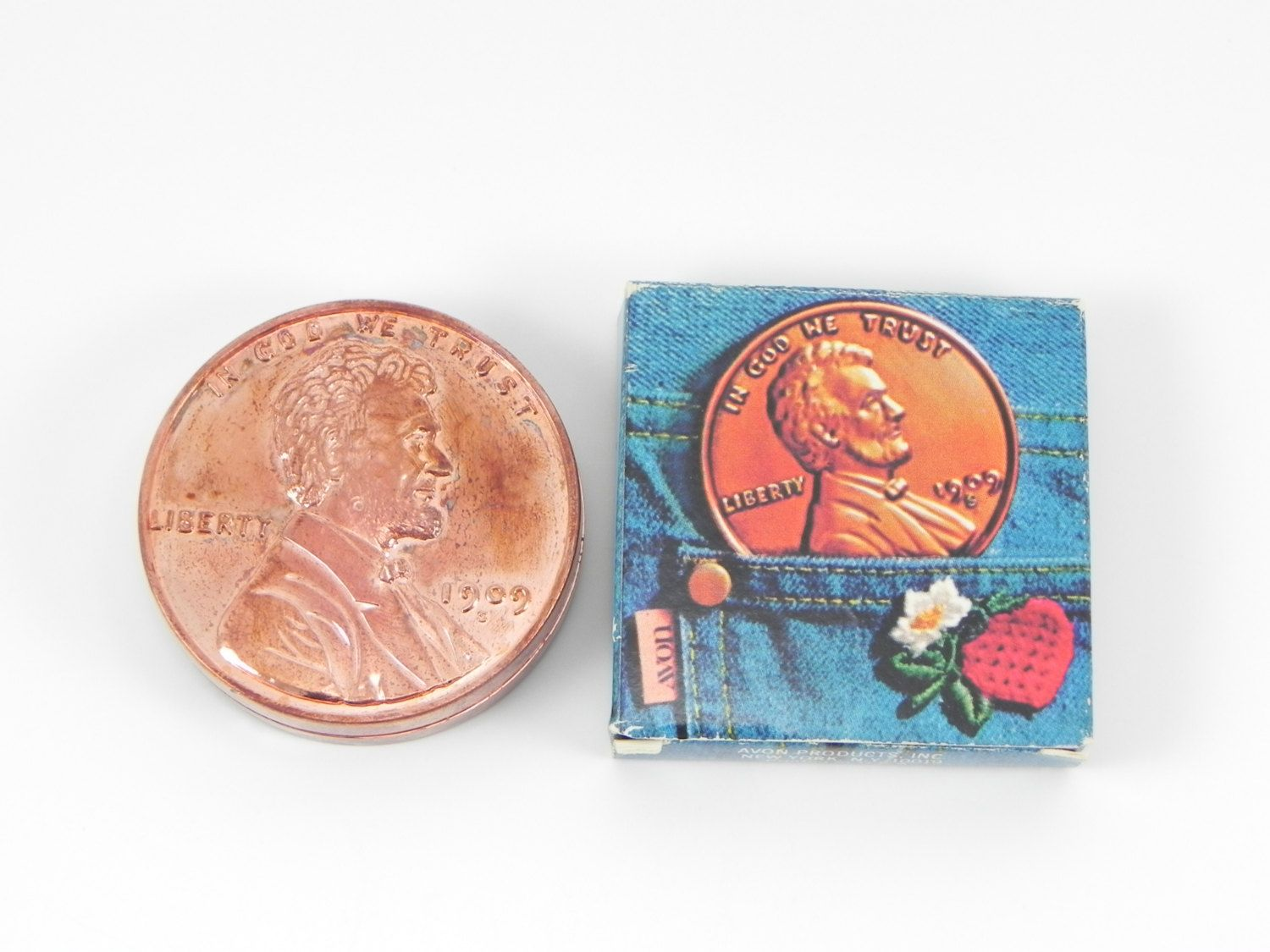 FREE SHIPPING Vintage Avon Lucky Penny Lip Gloss 1976 Real