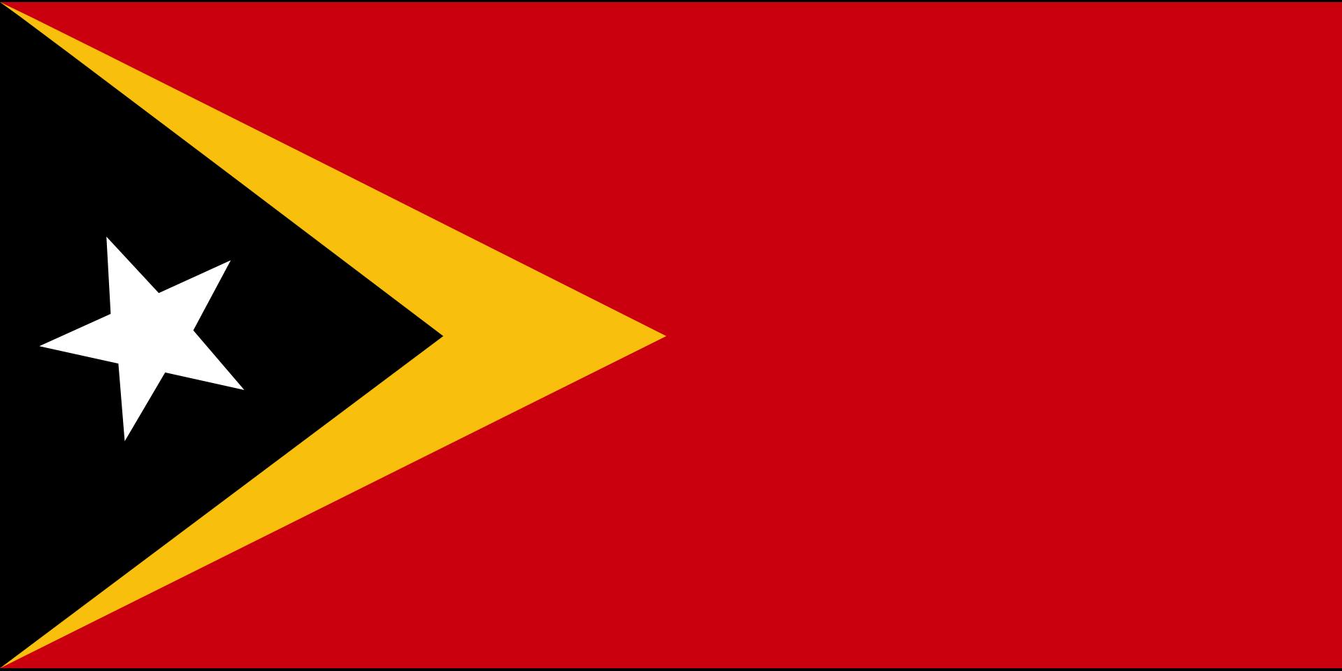 The National Flag Of East Timor Portuguese Bandeira De Timor