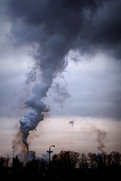 Industrial Photograph Pollution Smog Factory By Judemcconkeyphotos
