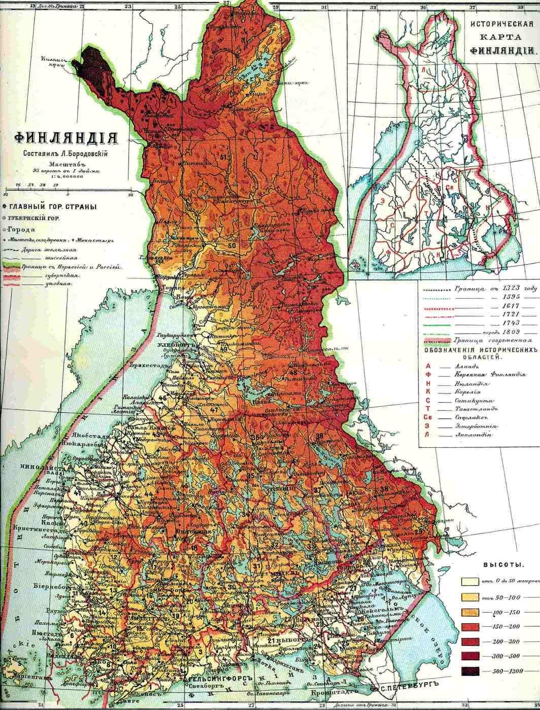 Suomen Suuriruhtinaskunnan Kartta Vuodelta 1900 Vanhat Kartat