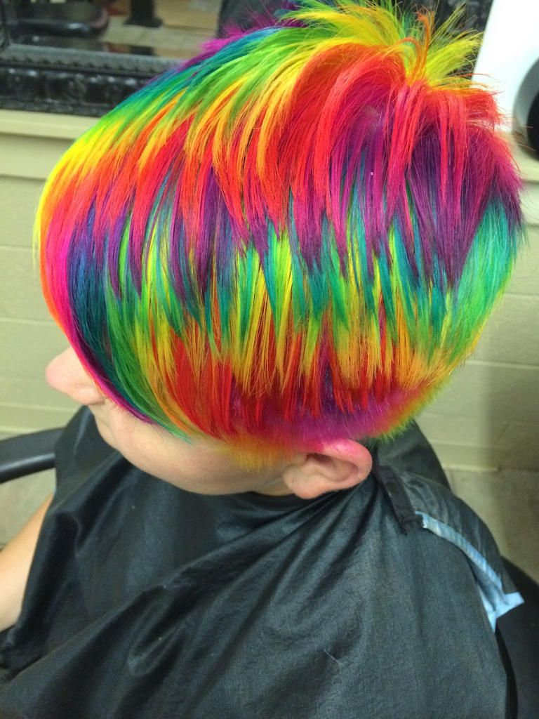 ursula goff - rainbow hair