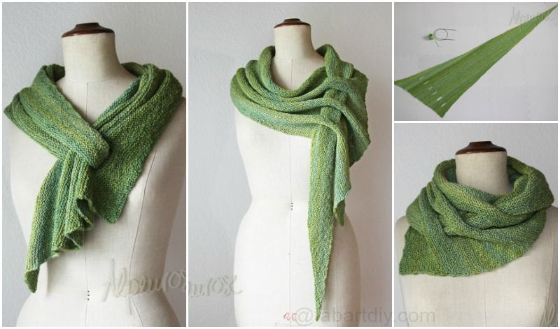Oversized Merino Wool Scarf - Green Field by VIDA VIDA Y6gRKr5Ew