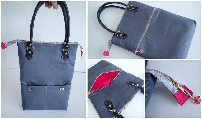 Zipper Top Tote - Free Bag Pattern - So Sew Easy