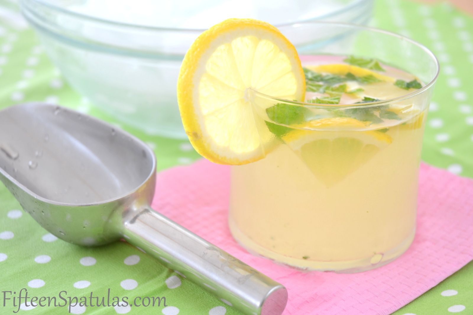 Mint Muddled Lemonade