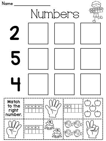 Worksheets Kindergarten Cut And Paste Worksheets number cut and paste worksheets a lot more sense fun by janelle