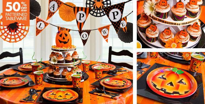 Perfect Pumpkin Halloween Party Supplies - Party City \ - halloween party decorations cheap