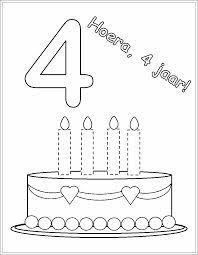 Jarig Taart Kleurplaat Met 5 6 Kaarsen Dejachthoorn