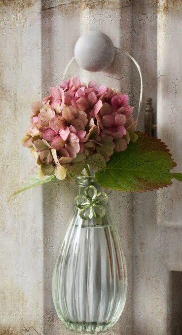 Mediterranean Italian Spanish Tuscan Homes Beautiful Flowers Flower Arrangements Pink Hydrangea