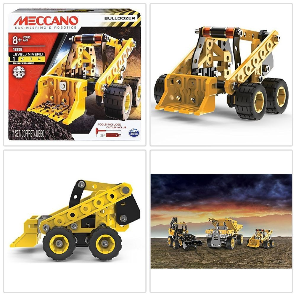 Toys for kids 8 and up  Details about Building Kit For Kids Erector Bulldozer Model Vehicle