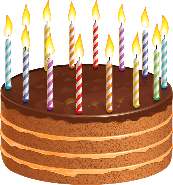 Happy Birthday Wishes Greetings Clipart Cake With Candles Sms