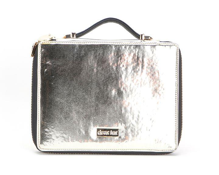 Deux Lux Foiled iPad Portfolio Silver- Lufli #deuxlux #lufli #ipadcase