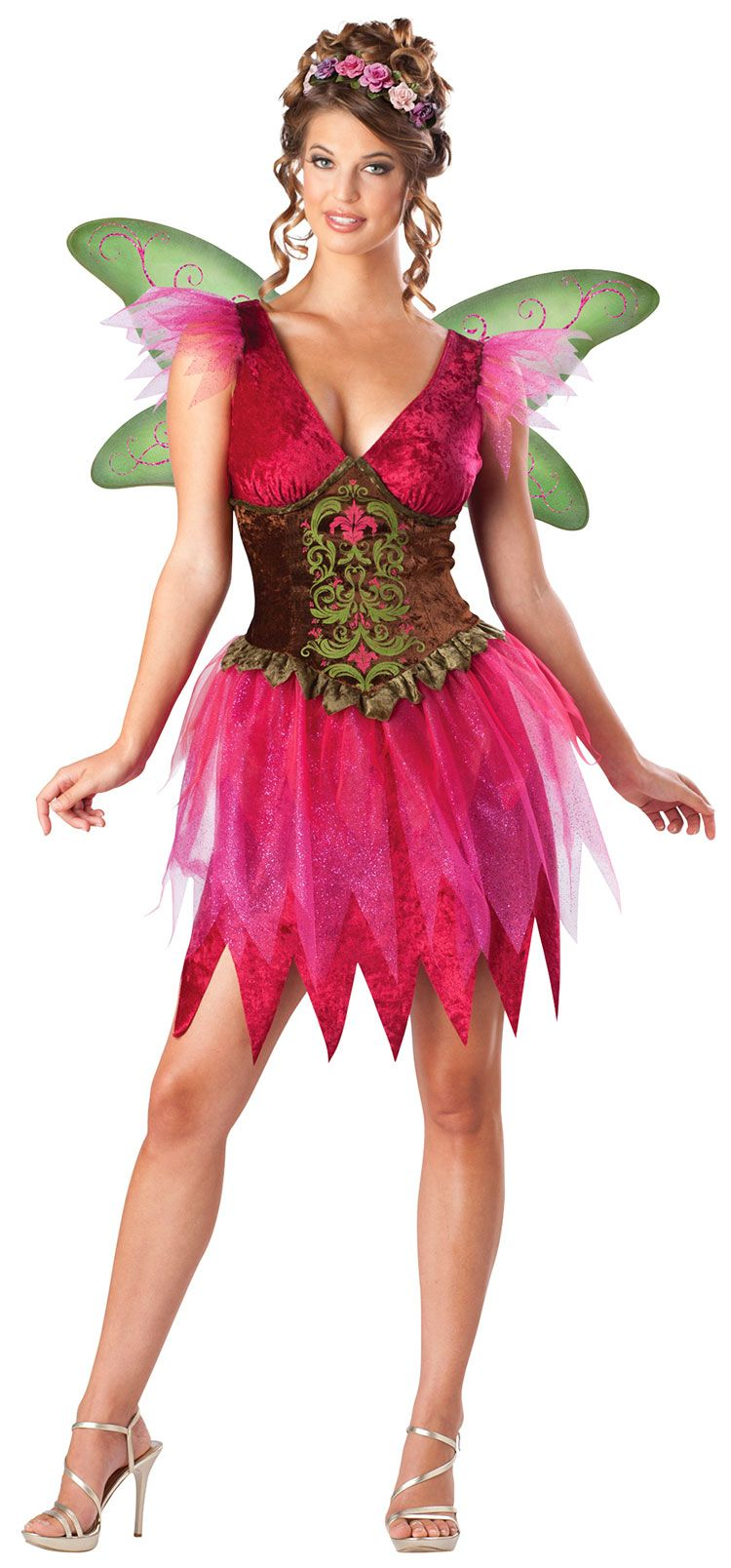 Forest Fairy Queen Costume Halloween Fancy Dress
