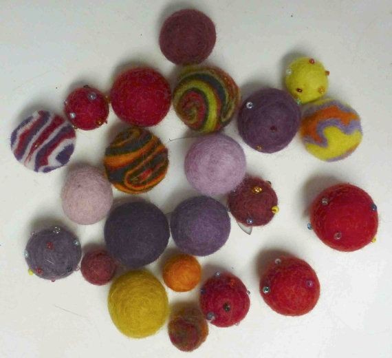 Felt Balls  Turning Leaves  23 balls by HayLofts on Etsy, $5.00