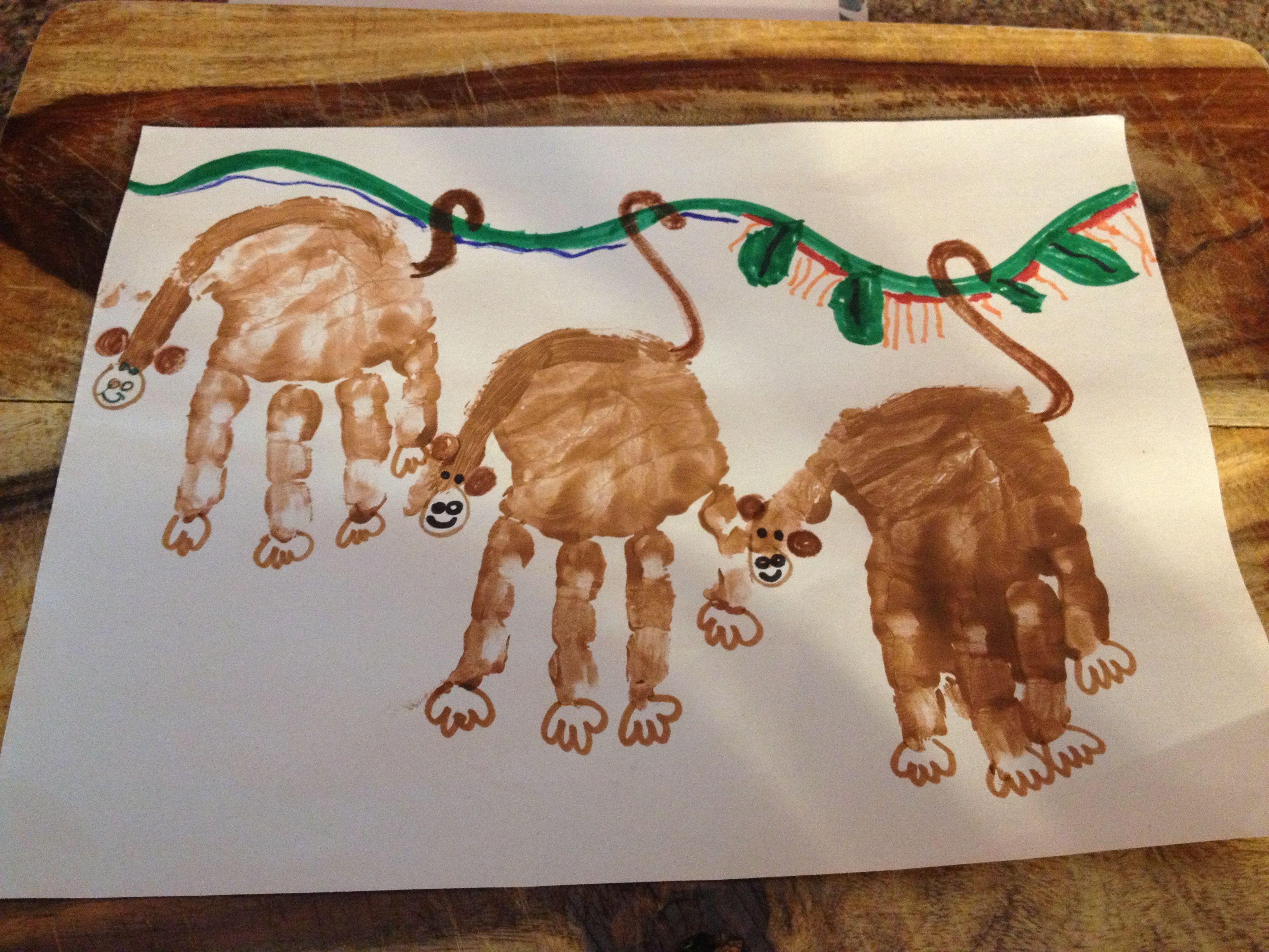 Hand Print Monkeys