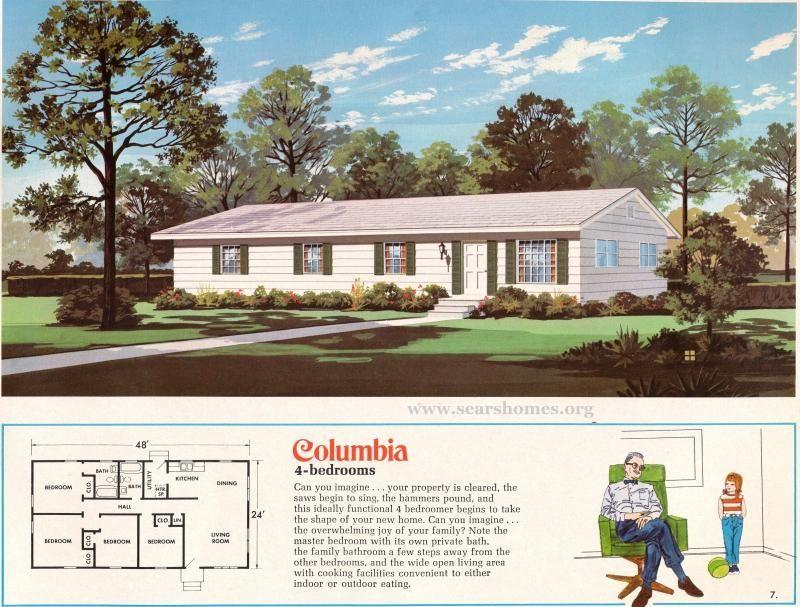 Jim Walter Homes A Peek Inside The 1971 Catalog Sears Modern Homes Vintage House Plans Modern House Model Homes