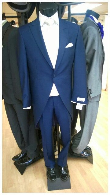 Navy suit tails