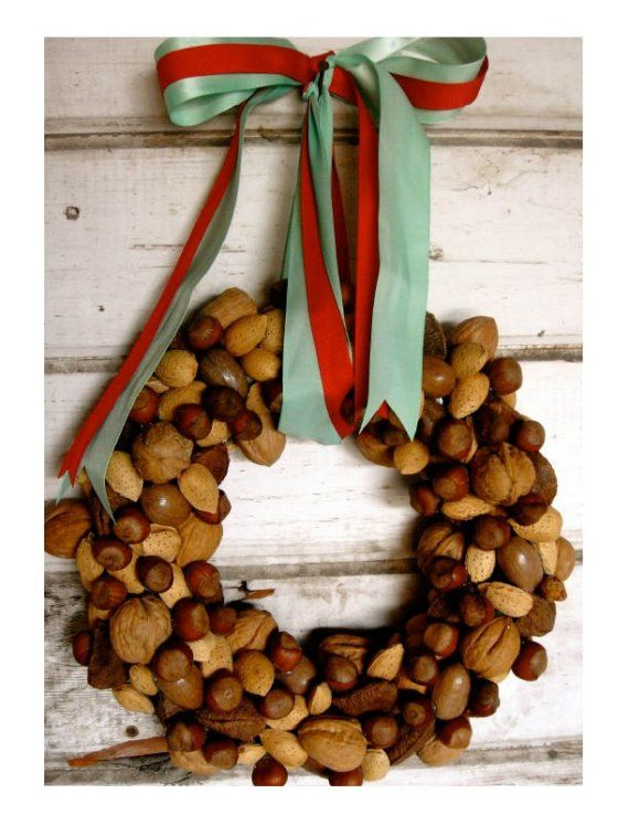 """""""In a Nutshell"""" Wreath by etsy seller thechicadeeshop -- perfect for fall"""