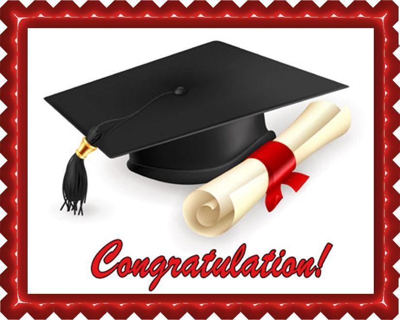 Photo of Graduation – Edible Cake Topper OR Cupcake Topper, Decor