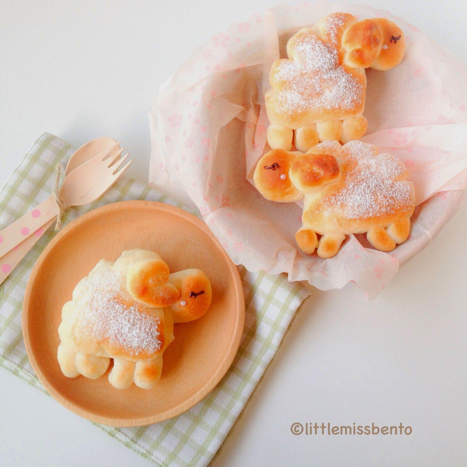 Little Miss Bento  シャリーのかわいいキャラベン: Kawaii Sheep Custard Bread Buns Recipe