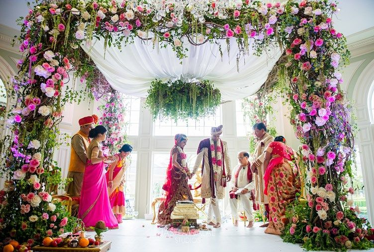 Dreamy Floral Garden Hindu Wedding New Jersey Indian Wedding