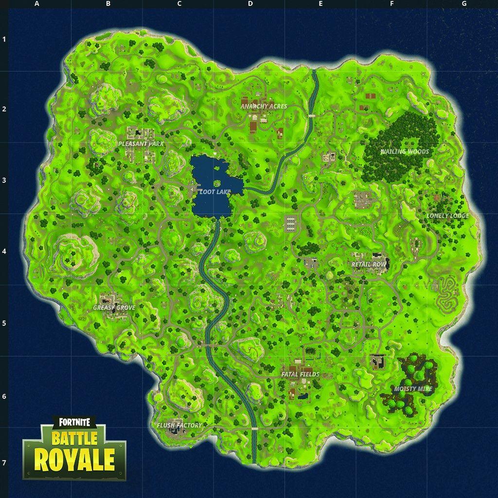 carte fortnite battle royale Résultat de recherche d'images pour