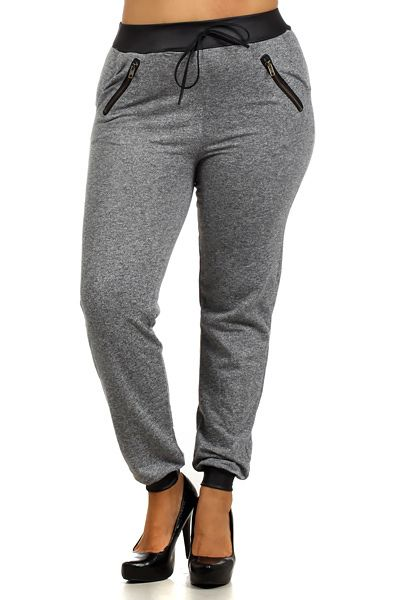 casual comfy plus size jogger pants | onlyleggings - leggings