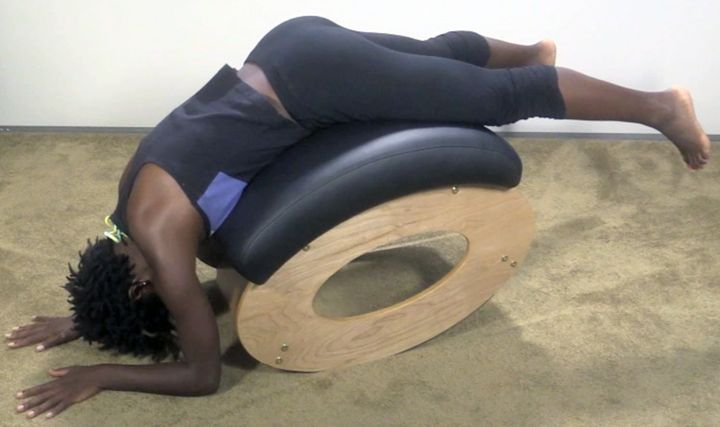 The Body Archer is a revolutionary and attractive alternative to the Inversion Table or Exercise Ball, for back stretching and back pain relief.