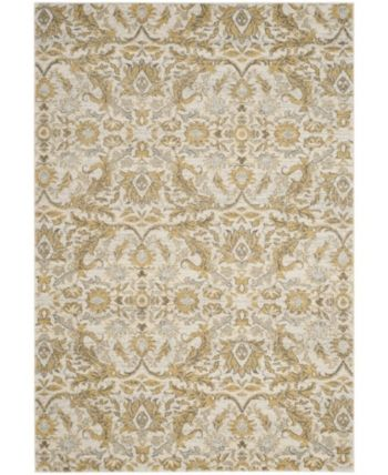 Safavieh Evoke Ivory And Gold 10 X 14 Area Rug Reviews Rugs Macy S Floral Area Rugs Gold Rug Area Rugs