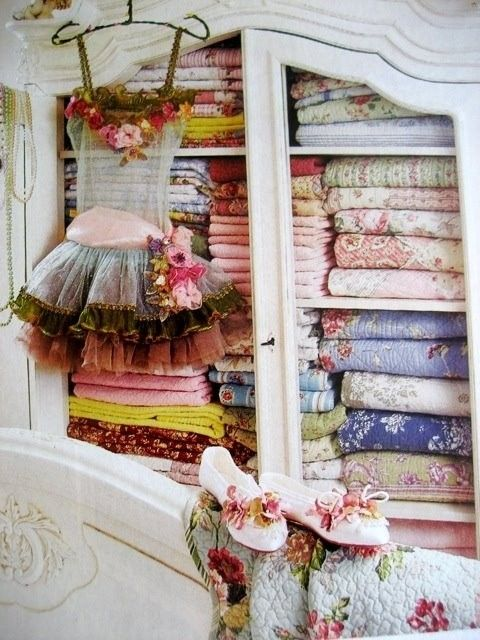 Brimming with beautiful old fabric!